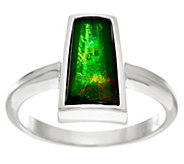 Ammolite Triplet Elongated Sterling Silver Ring - J329167