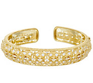 Judith Ripka Sterling & 14K Clad Diamonique Estate Cuff Bracelet - J329367