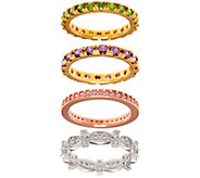 The Elizabeth Taylor Set of 4 Simulated Gemstone Rings - J330267