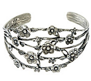 Sterling Silver Floral Openwork Cuff 25.00g by Or Paz - J331667