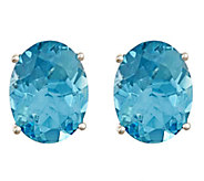 Premier 1.75 ct tw Oval Aquamarine Stud Earrings, 14K - J336167