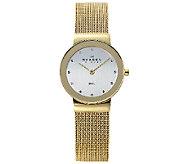 Skagen Womens Goldtone Mesh Bracelet Watch - J336267