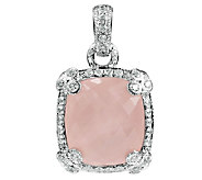 Judith Ripka Sterling Rose Quartz Enhancer - J336367