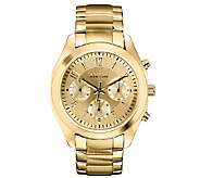 Caravelle New York Womens Goldtone Satin & Polished Watch - J336867