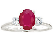 Premier 1.20cttw Oval Ruby & 1/5cttw Diamond Ring, 14K - J337167