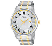 Pulsar Mens Two-Tone Expansion Band Watch - J337567