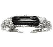 Judith Ripka Sterling Black Onyx Cuff Bracelet - J338967