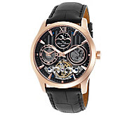 Lucien Piccard Mens San Marco SilvertoneAutomatic Watch - J341267