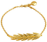 Hagit Sterling and14K Clad Feather Bracelet - J341867