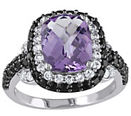 Sterling  2.70 ct Amethyst, Spinel, & SimulatedSapphire Ring - J342167