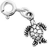 Sterling Silver Sea Turtle Charm - J343967