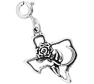 Sterling Rose of Texas Charm - J344167