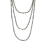 Barbara Bixby Sterling Silver Three Strand Market Chain Necklace - J346967