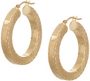 Arte dOro Diamond Cut Round Hoop Earrings 18K Gold - J349267