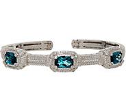 Judith Ripka Sterling 4.80 cttw London Blue Topaz Cuff Bracelet - J349567