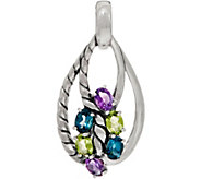 Carolyn Pollack Sterling Silver Gemstone Enhancer 4.30cttw - J349667