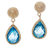 Italian Gold Gemstone Drop Earrings, 14K Gold - J350967