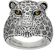 JAI Sterling Silver Figural Leopard Ring - J351067