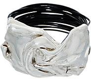 Or Paz Sterling Silver Magnetic Bow Bold Bracelet w/ Multi-Cords - J351567