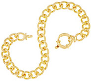 As Is Dieci 8 Solid Curb Link Bracelet, 10K Gold, 21.5g - J355167
