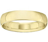 Mens 18K Yellow Gold 5mm Half-Round Wedding Band - J375467