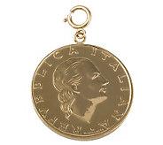 200-Lire Coin Charm, 14K Gold - J110568