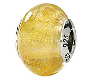 Prerogatives Sterling Yellow Italian Murano Glass Bead - J111568