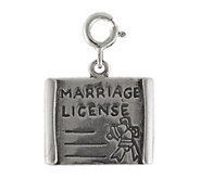 Sterling Marriage License Charm - J113868