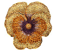 Joan Rivers Elegance in Bloom Pave Pansy Pin - J269168