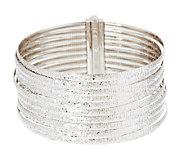 As Is VicenzaSilver Sterling 7-1/4 10-Row Omega Bracelet, 35.8g - J272768
