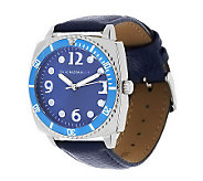 Isaac Mizrahi Live! Bold Color Leather Strap Watch - J277668