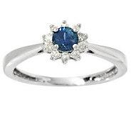 0.20 ct Montana Sapphire & 1/10 ct tw Diamond Ring 14K Gold - J283368
