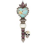 Barbara Bixby Sterling & 18K Multi-Gemstone Heart & Skull Key Enhancer - J284368