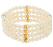 Honora 14K Gold Cultured Pearl 4 Row Stretch Bracelet - J285768
