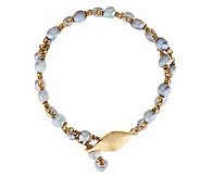 Michael Dawkins 14K Gold and Grey Cultured Pearl Necklace - J288868