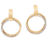 EternaGold Large Two-tone Circle Dangle Earrings, 14K - J294268