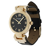 As Is Liz Claiborne New York Leather Strap Watch w/ Tonal Dial - J294568