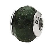 Prerogatives Sterling Dark Green Quartz Gemstone Bead - J298168