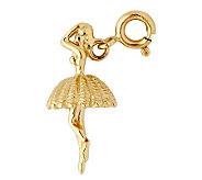 14K Yellow Gold Ballerina Charm - J298468