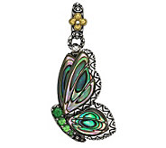 Barbara Bixby Sterling/18K Carved Abalone Butterfly Charm - J308468