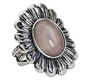 Or Paz Sterling Gemstone Flower Ring - J311568