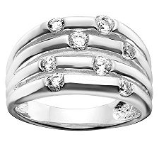 Epiphany Diamonique Multi-Row Band Ring