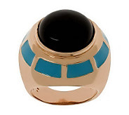 Bronzo Italia Gemstone & Enamel Bold Ring - J312968
