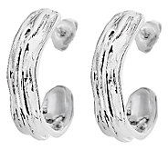 Hagit Sterling Sculpted Half Hoop Earrings - J316868