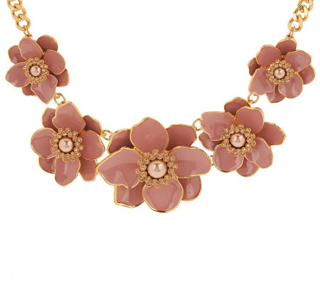 Joan rivers floral garden enamel statement necklace for Joan rivers jewelry necklaces