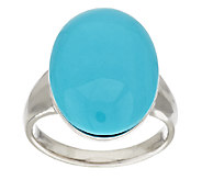 As Is Sleeping Beauty Turquoise Invisible Set Sterling Ring - J319568