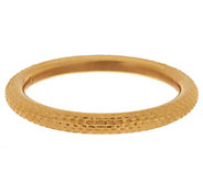 As Is Oro Nuovo Average Textured Diamond Cut Bangle 14K Gold - J320868