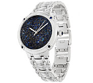 Ecclissi Facets Pave Sapphire Stainless Steel Watch 6.50 cttw - J322368