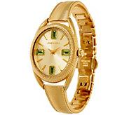 Judith Ripka Stainless & Gemstone Sophia Cuff Style Bracelet Watch - J323368