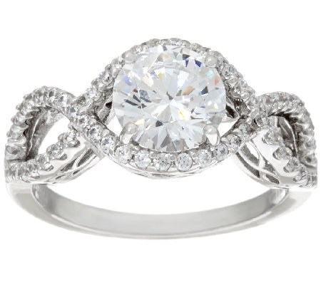 Round Cut Infinity Bridal Ring Platinum Clad J326068